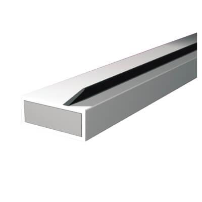 Pyroplex Single Offset Flipper Intumescent Strip - 15 x 4 x 2100mm - White - Pack 10)