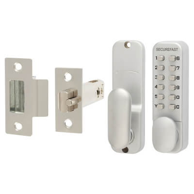 Easy Code Change Mechanical Code Lock - Knob - Stainless Steel)