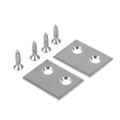 Rola Sash Stop Plate - 25 x 18mm - Satin Chrome