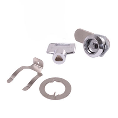 Tri Key Cam Lock - 19 x 20mm - Chrome Plated