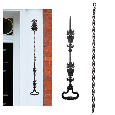 Elden Bell Pull - Antique Black Iron