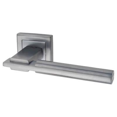 Morello Alpha Door Handle - Satin Chrome