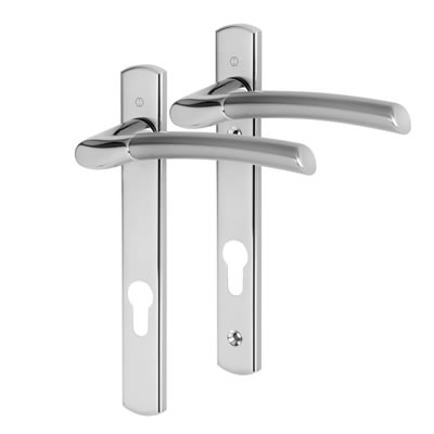 Hoppe Bergen - uPVC/Timber - Multipoint Lever - 92mm Centres - Polished/Satin Chrome