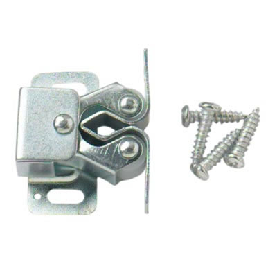 Double Roller Catch - Zinc Plated - Pack 10