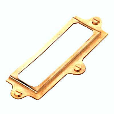 Card Frame - 37 x 90mm - Dipped Brass