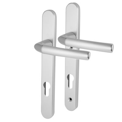Hoppe Birmingham - uPVC/Timber - Multipoint Short Plate Handle - 92mm centres - 44mm door thickness)