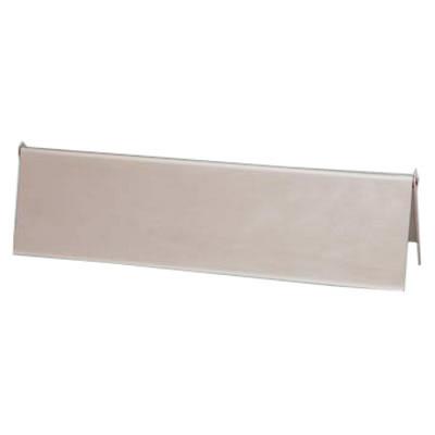Interior Letter Flap - 302.5 x 72mm - Satin Aluminium