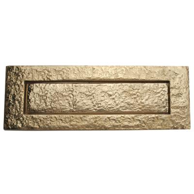 Plain Letter Plate - 250 x 87.5mm - Blacksmith Brass