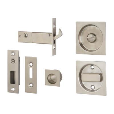 KLÜG Square Flush Privacy Set with Bolt - Stainless Steel Grade 304 - Satin
