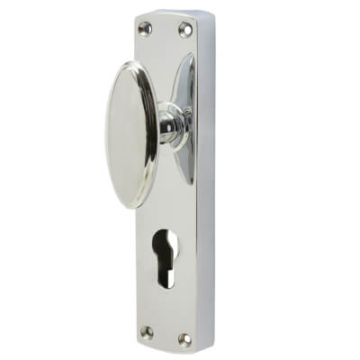 Jedo European Style Locking Espagnolette Bolt - Polished Chrome)
