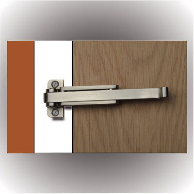 Door Restrictor - Satin Nickel)