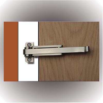 Door Restrictor - Satin Nickel