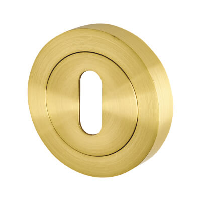 Touchpoint Escutcheon - Keyhole - Satin Brass