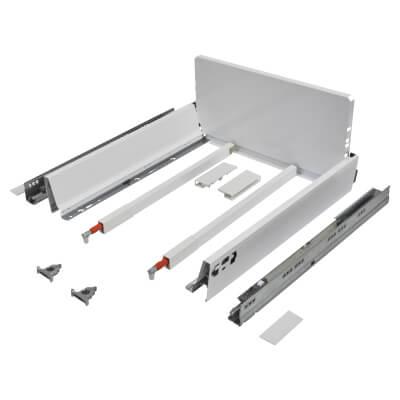 Blum TANDEMBOX ANTARO Pan Drawer - BLUMOTION Soft Close - (H) 203mm x (D) 450mm x (W) 450mm - White