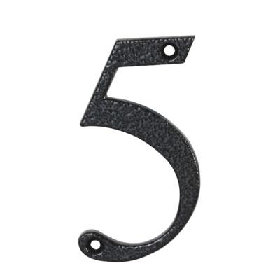 76mm Numeral - 5 - Antique Black Iron