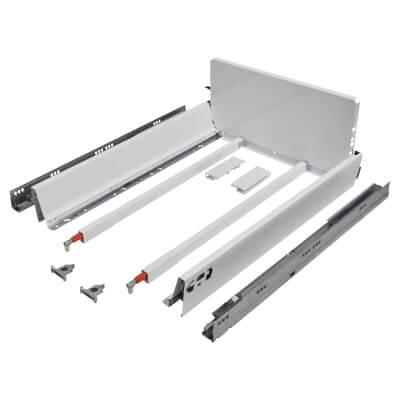 Blum TANDEMBOX ANTARO Pan Drawer - BLUMOTION Soft Close - (H) 203mm x (D) 550mm x (W) 450mm - White)