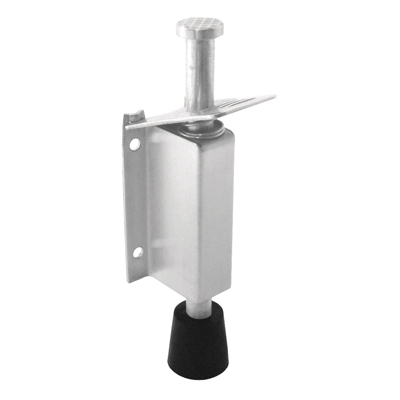 Altro Foot Operated Door Holder - 140mm - Polished Stainless Steel