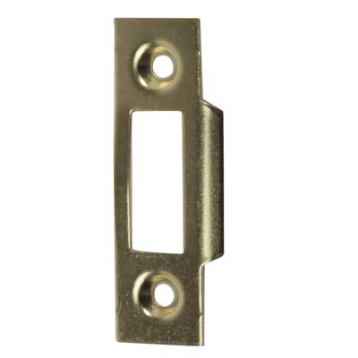 Slam Type Mortice Strike - 50 x 15mm - Brass Plated - Pack 10