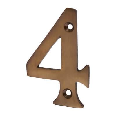 Jedo 75mm Numeral - 4 - Dark Bronze