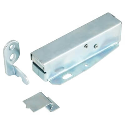 Heavy Duty Automatic Touch Latch - 75mm - Bright Zinc Plated)