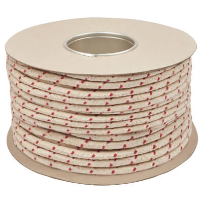 Everlasto No.5 Red Spot Waxed Sash Cord - 8mm - 100M Coil)
