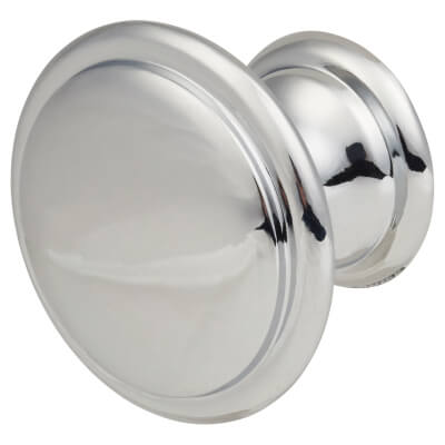 Touchpoint Rim Cabinet Knob - 30mm - Polished Chrome)