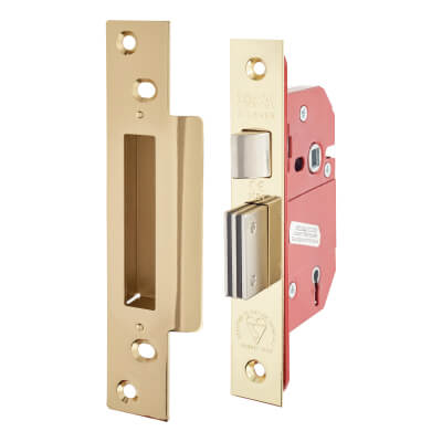 ERA® BS3621:2007 5 Lever Sashlock - 79mm Case - 56mm Backset - Brass