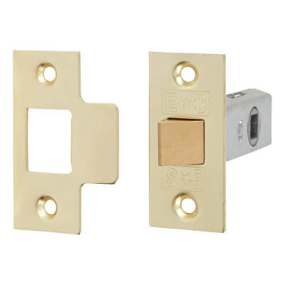 Project Tubular Latch Pack - 64mm Case - 42mm Backset - Electro Brass - Pack 10