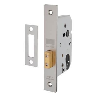 UNION® Oval 2141 Deadlock - 77mm Case - 57mm Backset - Satin Stainless