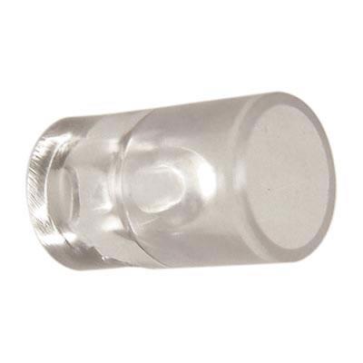 Standard Plastic Glass Shelf Support - 19 x 10mm - Clear - Pack 50)