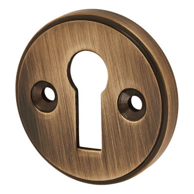 Escutcheon - Keyhole - Antique Brass