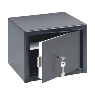 Burg Wächter H 3 S HomeSafe Key Operated Safe - 257 x 347 x 298mm - Black)
