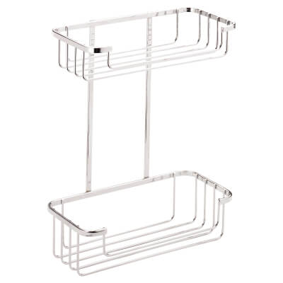 Croydex Wirework Shower Cosmetic Basket - Two Tier - Mild Steel