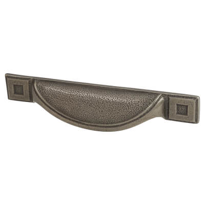 Crofts & Assinder Pip Cabinet Cup Handle - 96mm centres - Cast Iron