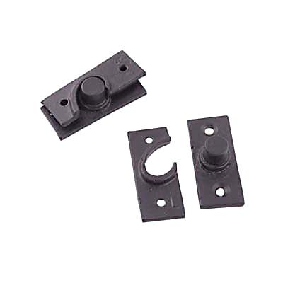 Concealed Pivot Hinge - 50 x 19mm - Cast Iron Black
