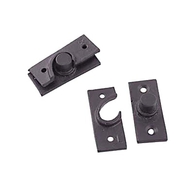 Concealed Pivot Hinge - 50 x 19mm - Cast Iron Black