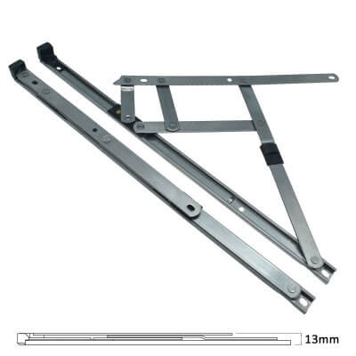 Standard Friction Hinge - uPVC/Timber - 13mm Stack - 16 inch / 400mm - Side Hung - Pair