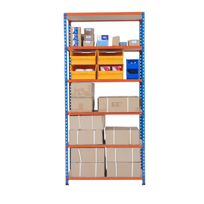 6 Shelf Commercial Shelving - 340kg - 1980 x 915 x 455mm
