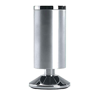 Designer Furniture Leg - 120-125mm - Satin Aluminium
