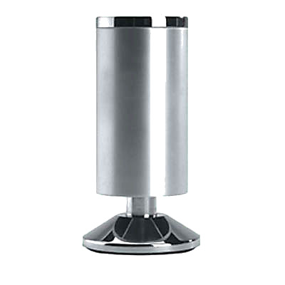 Designer Furniture Leg - 120-125mm - Satin Aluminium