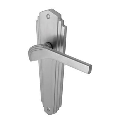 M Marcus Waldorf Door Handle - Latch Set - Satin Chrome