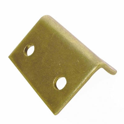 Angled Latch Plate - 25 x 35 x 15mm - Brass