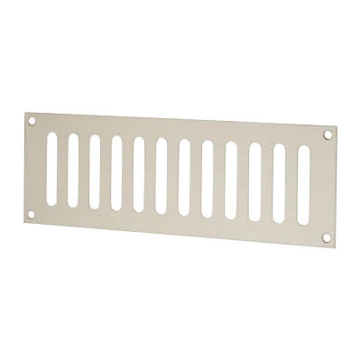 Plain Slotted Vent - 229 x 76mm - 4085mm2 Free Air Flow - Satin Stainless Steel)