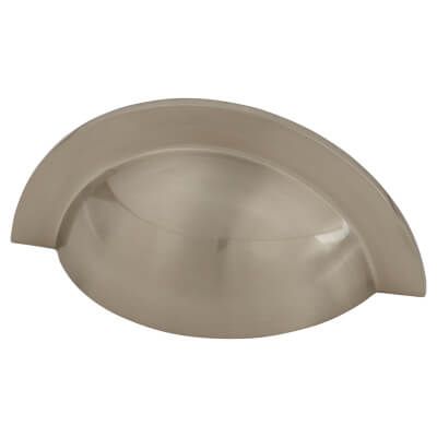 Crofts & Assinder Monmouth Cabinet Cup Handle - 64mm Centres - Brushed Satin Nickel)