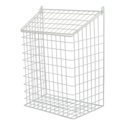 Letter Cage - 457 x 349 x 203mm - White Plastic Coated