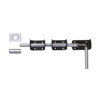 Drop Down Garage Bolt - 300mm - Black)