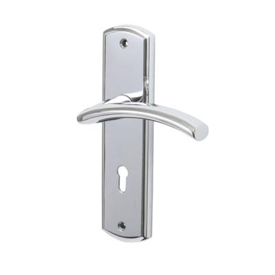 M Marcus Centaur Door Handle - Keyhole Lock Set - Polished Chrome