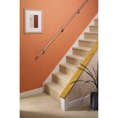 Complete 3.6m Handrail Kit - Polished Chrome)