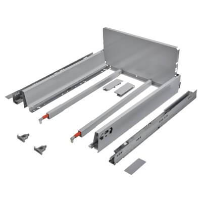 Blum TANDEMBOX ANTARO Pan Drawer - BLUMOTION Soft Close - (H) 203mm x (D) 500mm x (W) 450mm - Grey)