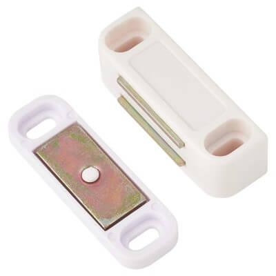 Veel-2 Magnetic Catch - 42mm - 4.5kg Pull - White)